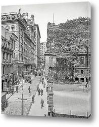 Постер Бостон, Массачусетс. Улица Школьная и Parker House, 1906