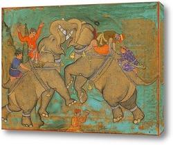 Картина Битва на слонах