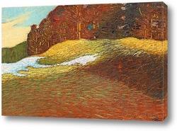 Картина Весенний пейзаж с сугробами