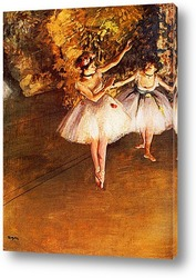 Постер Две танцовщицы на сцене