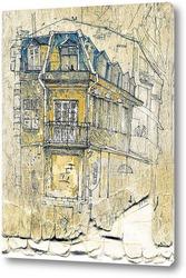 Картина Зарисовка здания