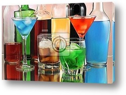 Постер Alcoholic drinks