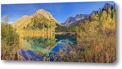 Постер Озеро Кардывач - зеркальное сердце Кавказского биосферного заповедника