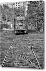 Old tram. Пенсионер.