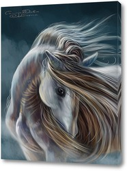 Постер Лошадь в тумане