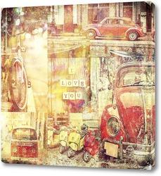 Постер Ретро в городе
