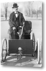 Постер  Генри Форд в своём автомобиле,1896г.