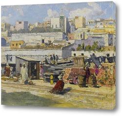 Картина Марокканская уличная сцена