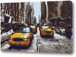 Постер Такси Нью-Йорка