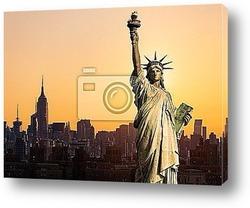 Постер New York statue de la LibertГ©