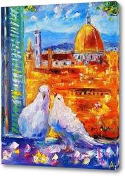 Картина Голуби Флоренции