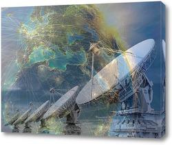 Постер Спутниковая антенна