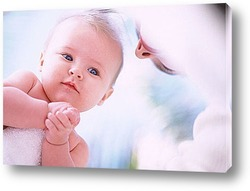 human hands isolated on white - parenting concept