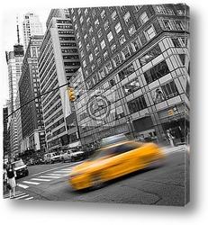 Постер Такси с цветом