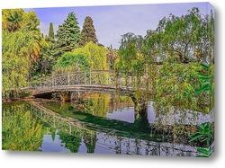 Постер Весенний пейзаж на озере