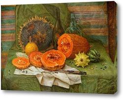 Картина Натюрморт с тыквой