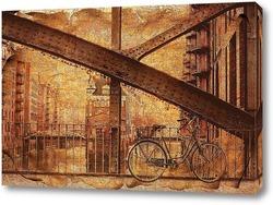 Постер Мост и велосипед
