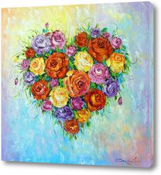 Картина Мое сердце цветет когда ты рядом