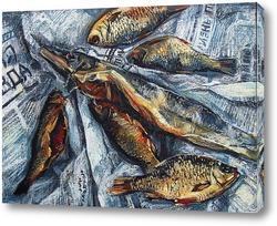 Картина Натюрморт с рыбой