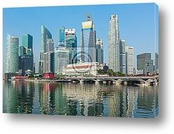 Постер Singapore skyscrapers