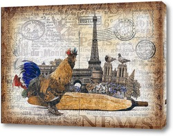 Постер Французский коллаж