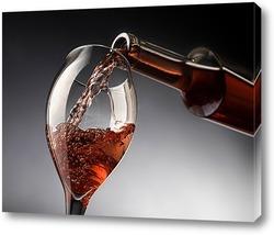 Постер Бокал с розовым вином