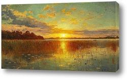 Картина Закат над датским Фьордом