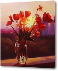 Постер Солнце в цветах