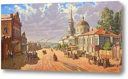 Постер Посёлок Воткинский завод. Вид на Благовещенский собор. Начало 1900 г.