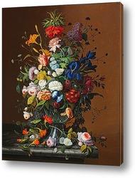 Натюрморт Цветы и фрукты