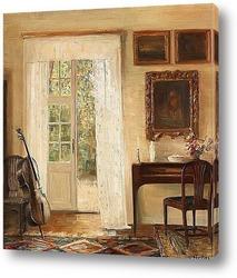 Картина Интерьер с виолончелью