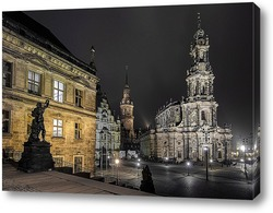 Residenzschloss and Katholische Hofkirche - Dresden,Germany