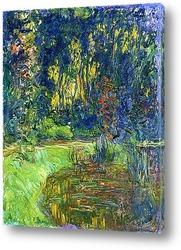 Постер Пруд с водяными лилиями
