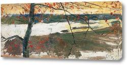 Картина Осенний пейзаж с рекой