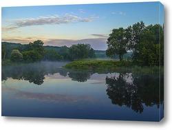 Постер Летнее утро на реке