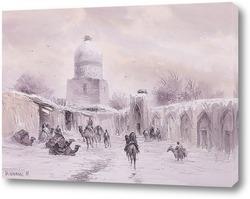 Картина Зима в Бухаре