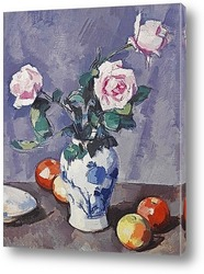 Натюрморт с розами и апельсинами