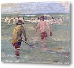 Два всадника на пляже