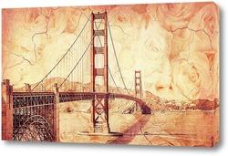 Постер мост Золотые Ворота