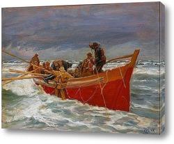 Постер Алые паруса спасательной шлюпки