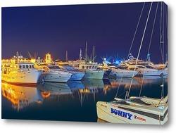 Постер Ночь на причале Сочинского морского порта