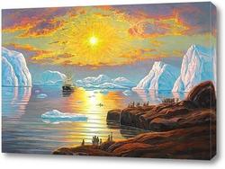 Картина Полуночное солнце, Гренландия