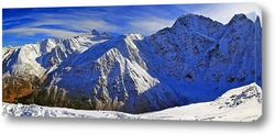 Постер Панорамный вид на Кавказские горы в Кабардино-Балкарии
