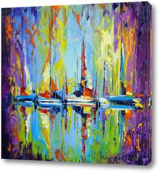 Картина Лодки у пирса