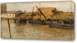 Картина Лодки на канале