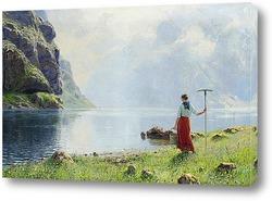 Девушка в фьордах