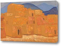 Постер Таос-Пуэбло, Нью-Мексико