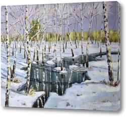 Картина Лесной ручей