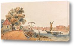 Вид на Ламбетский дворец на Темзе