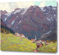 Картина Горы в швейцарских Альпах